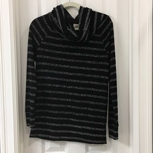 Lou and Grey Cowl neck striped sweater